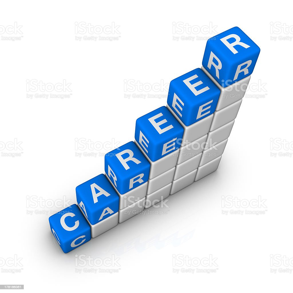 Ladder of Career royalty-free stock photo