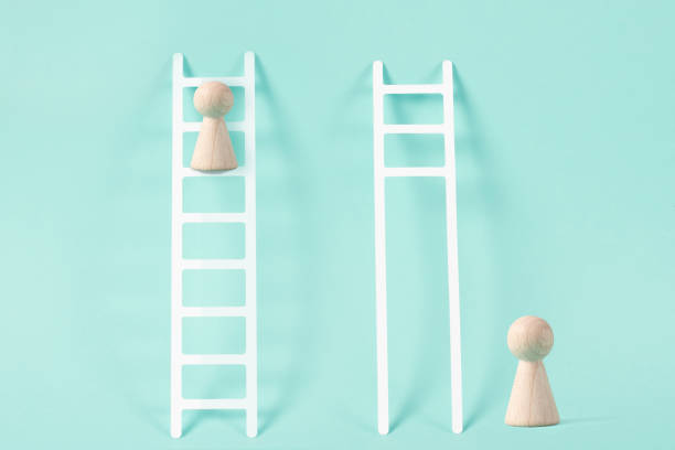 Ladder of Competition Ladder of Competition unbalanced stock pictures, royalty-free photos & images