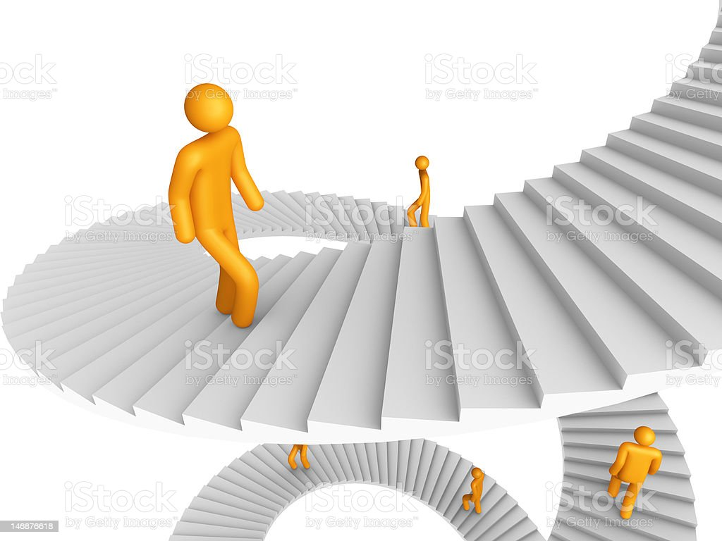 Ladder of Success (isolated) royalty-free stock photo