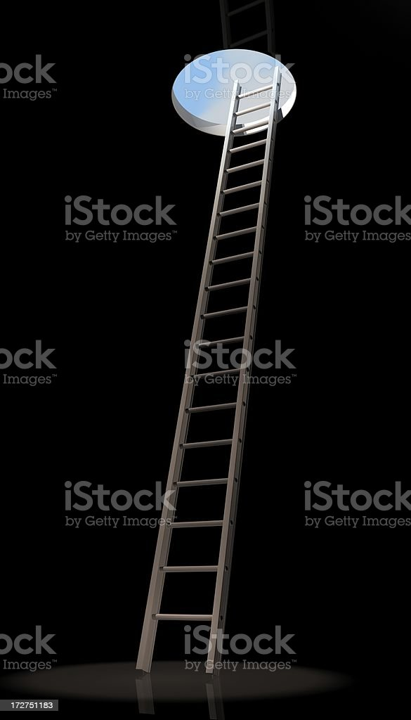 Ladder out of the depths royalty-free stock photo