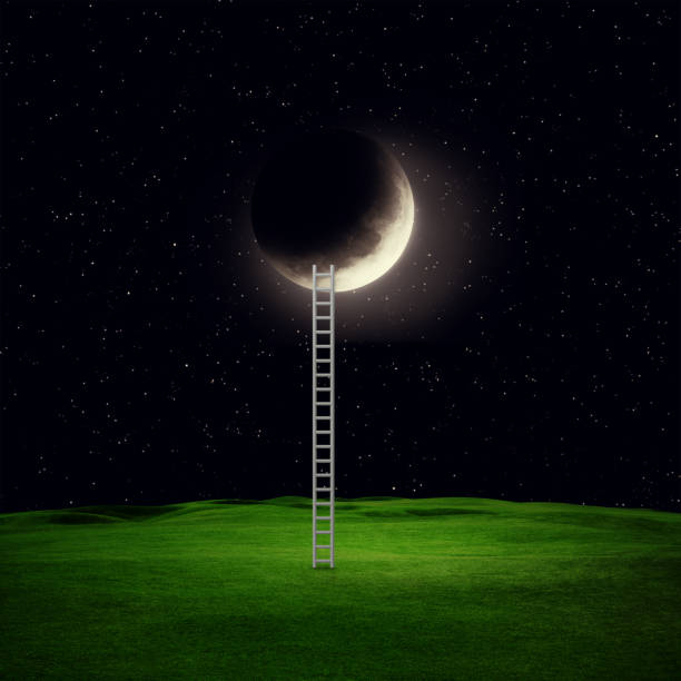 ladder - sleeping illustration stockfoto's en -beelden