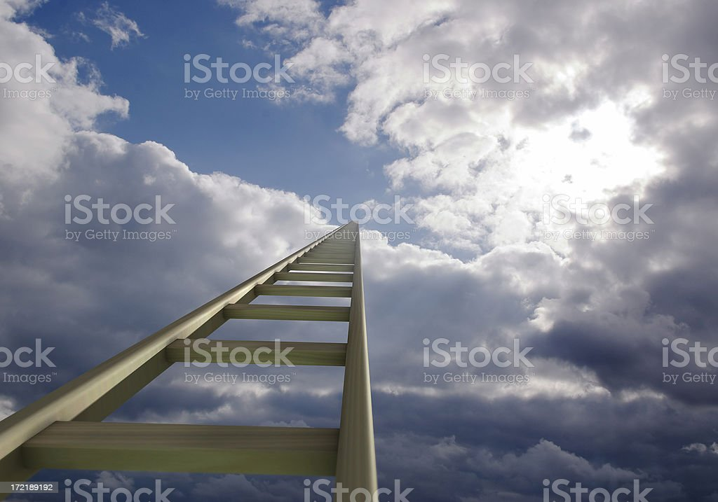 Ladder to Heaven stock photo