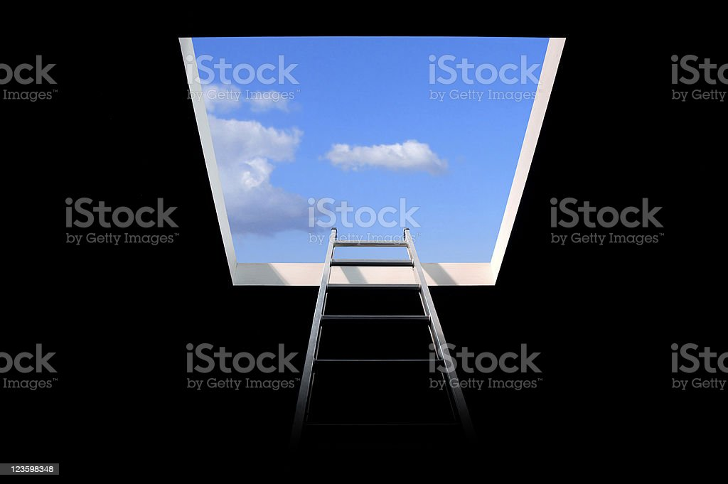 ladder to the sky royalty-free stock photo