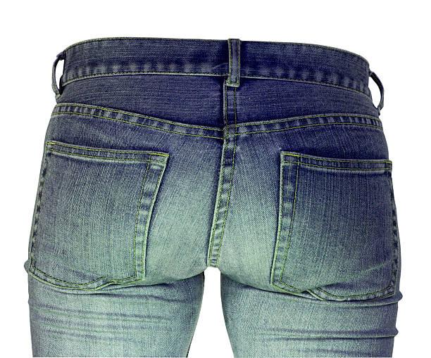 Senhoras bum em Jeans azul - foto de acervo