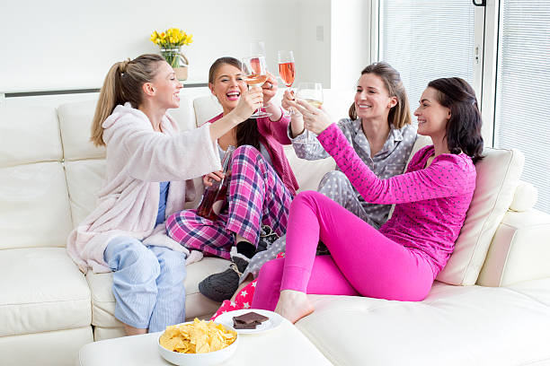 Ladies Celebrating stock photo