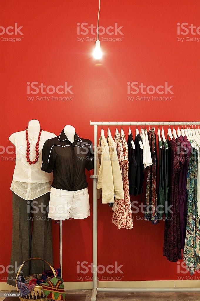 Ladies fashion on rack royalty-free stock photo