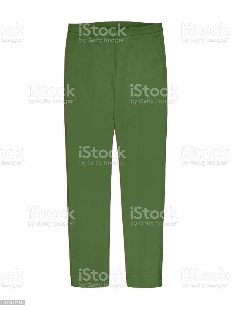 017b7a929b Grüne Damen Hose Isoliert Auf Weiss Stockfoto und mehr Bilder von ...