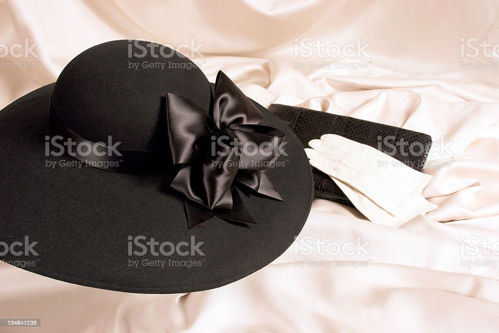Ladies hat, purse and gloves royalty-free stock photo