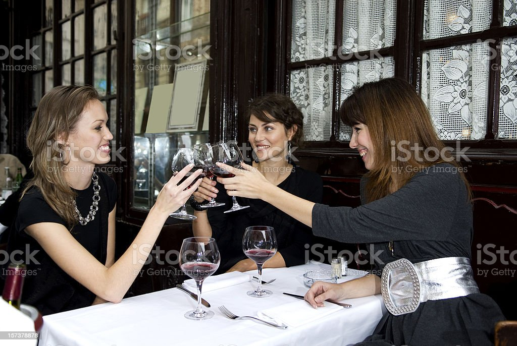 ladies in restaurant royalty-free stock photo