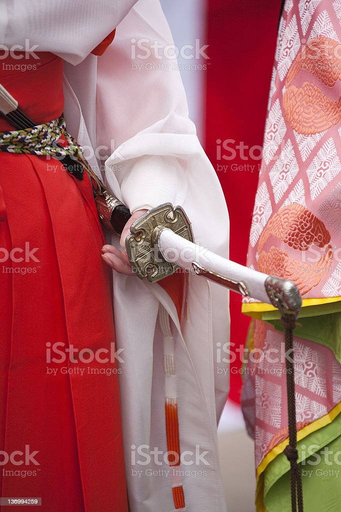 Ladies in traditional clothing stock photo