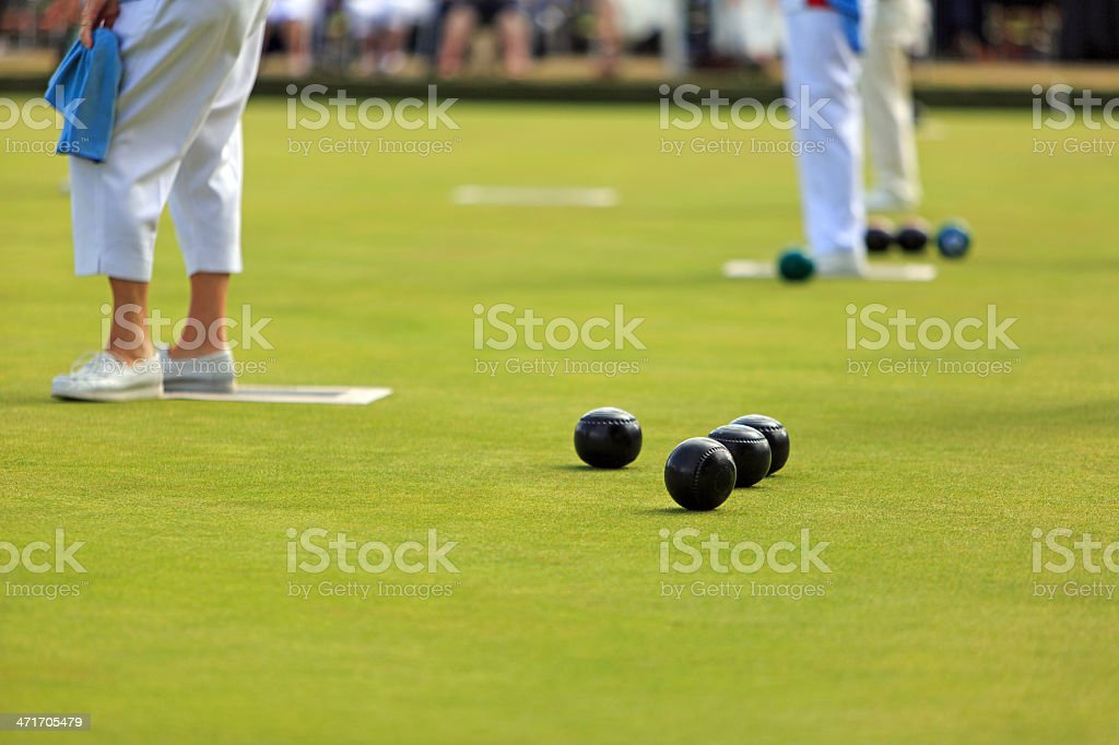 Ladies Lawn Bowls stock photo