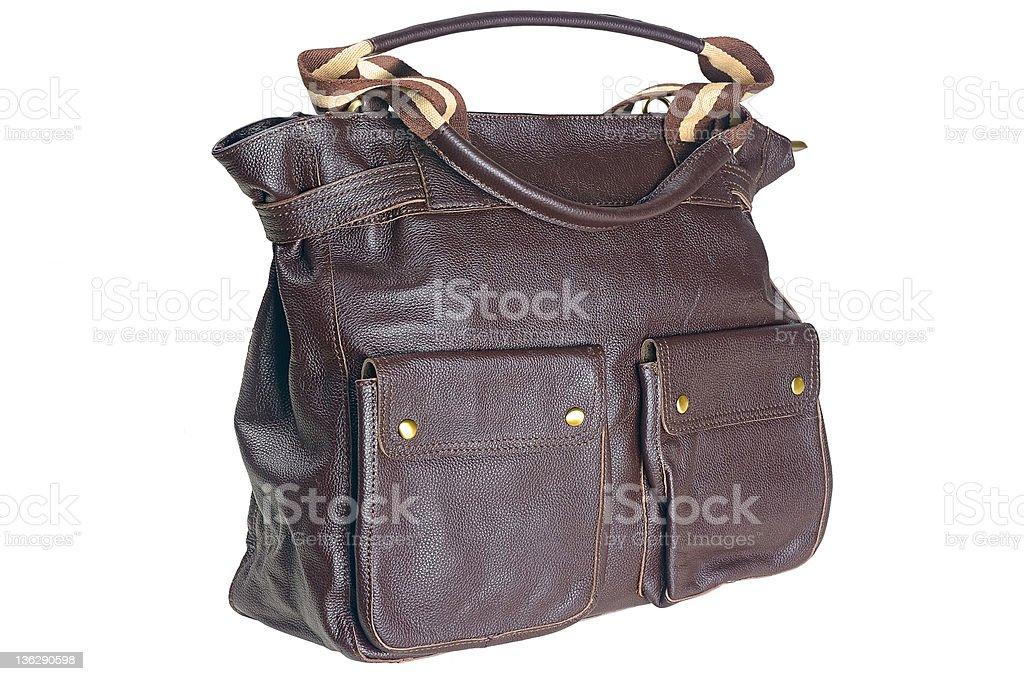 Ladies leather bag royalty-free stock photo