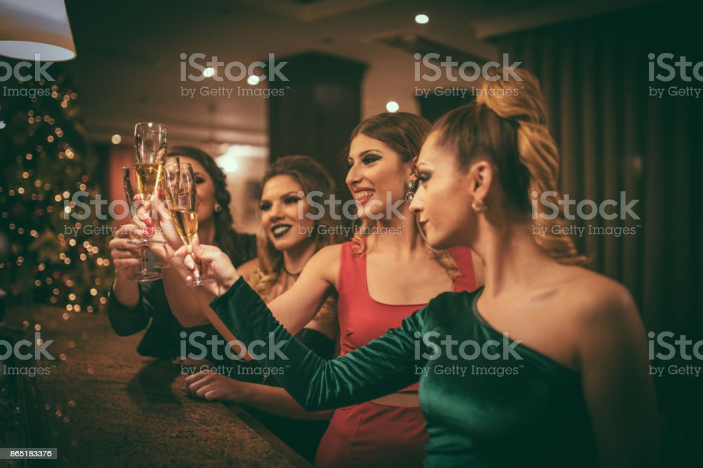 Ladies party time stock photo