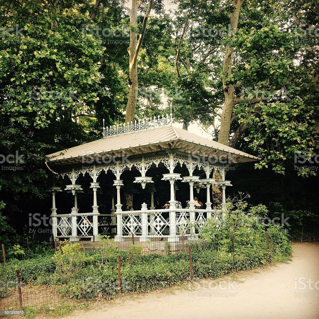 Ladies Pavilion in Central Park stock photo