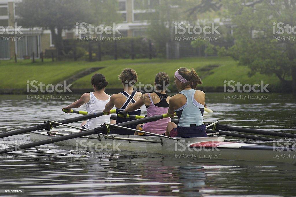 Ladies Rowing Team royalty-free stock photo
