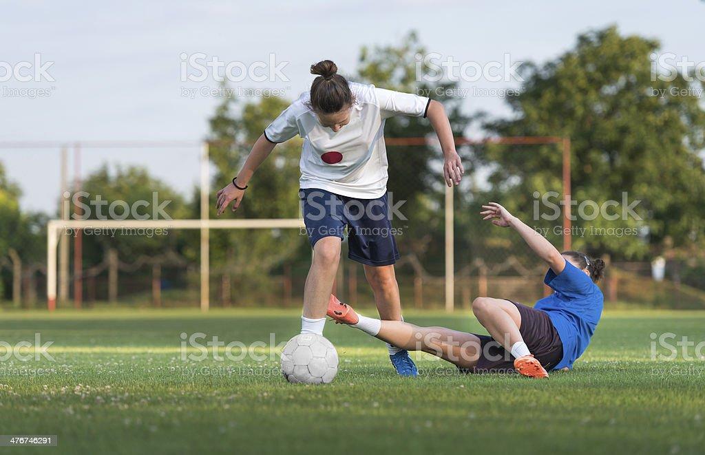 ladies soccer stock photo
