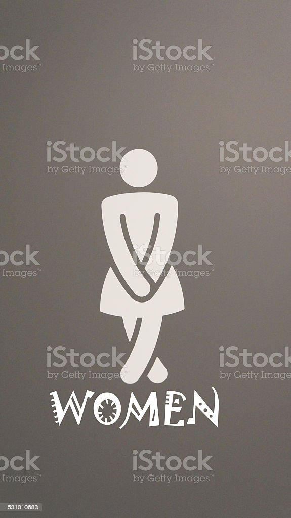 Ladies toilet icon stock photo
