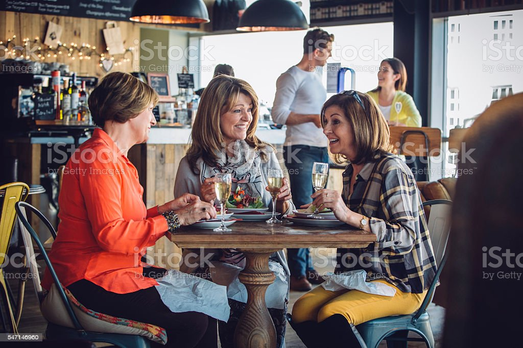 Ladies Who Lunch stock photo