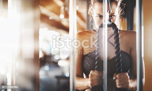 istock Ladies workout. 625158080
