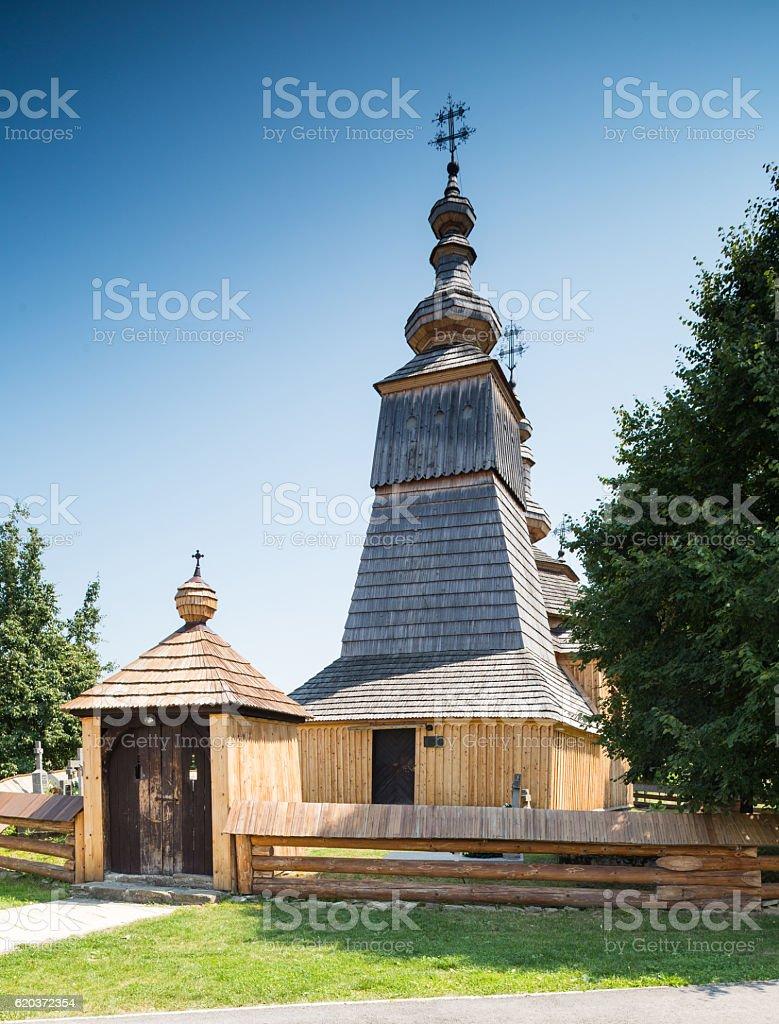 Ladomirova, Slovakia - St. Michael the Archangel Greek Catholic church foto de stock royalty-free