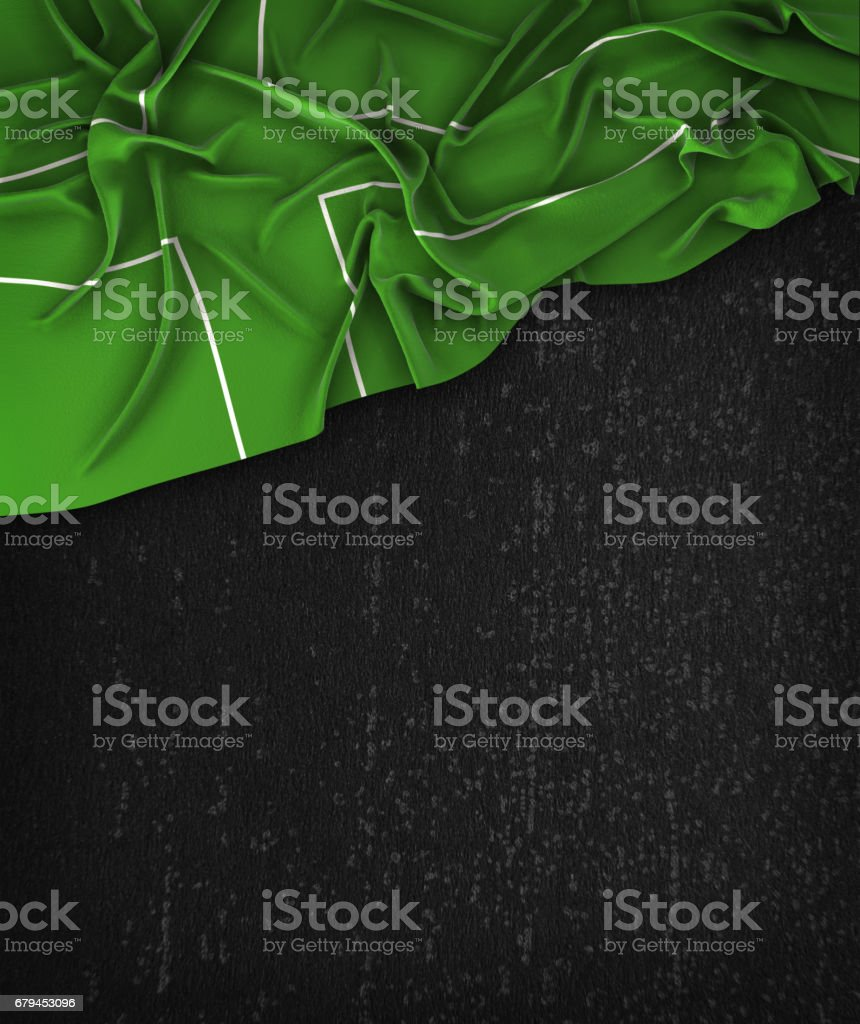 Ladonia Flag Vintage on a Grunge Black Chalkboard With Space For Text royalty-free stock photo