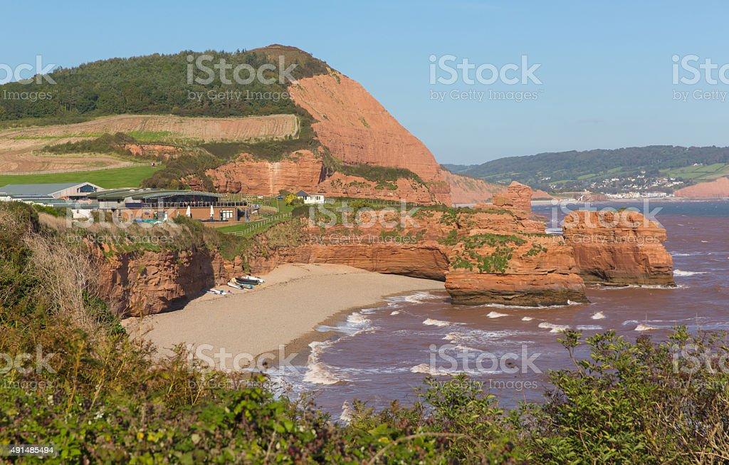 Ladram Bay beach Devon England uk Jurassic coast stock photo