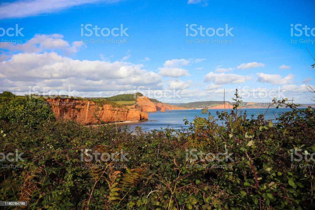 Ladram Bay Cliffs in Devon - Royalty-free Bay of Water Stock Photo