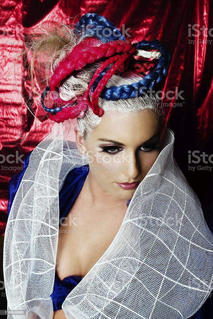 Lady America stock photo