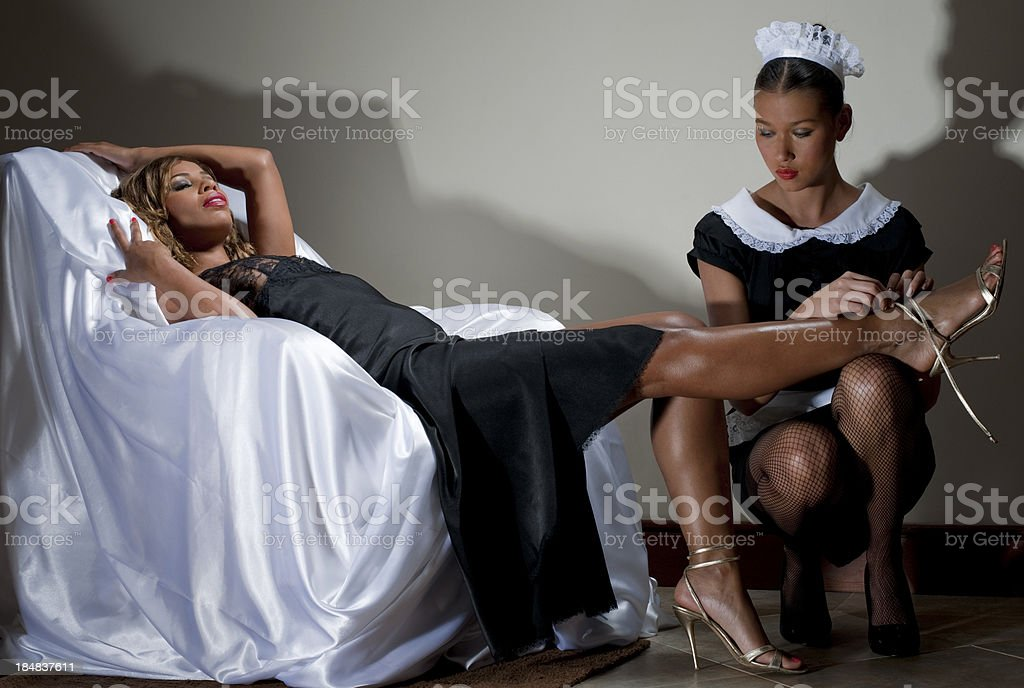 Lady and Maid royalty-free stock photo