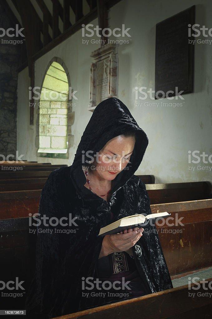 Lady at Prayer royalty-free stock photo