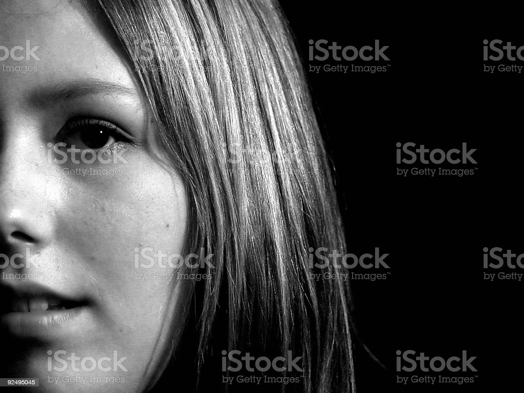 Lady - Black and White royalty-free stock photo