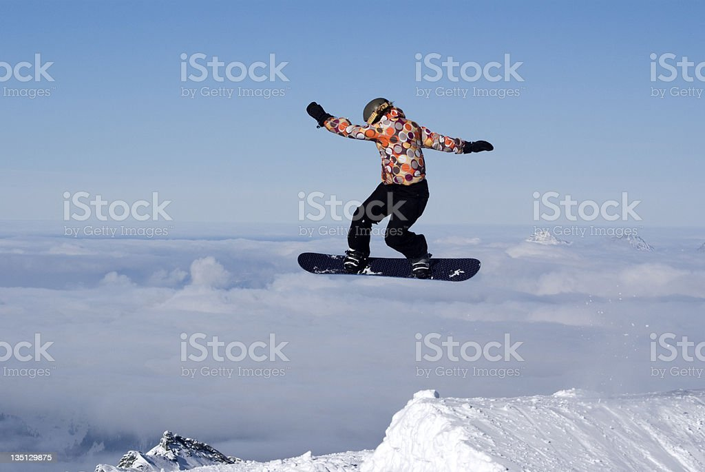 Lady Boarder stock photo