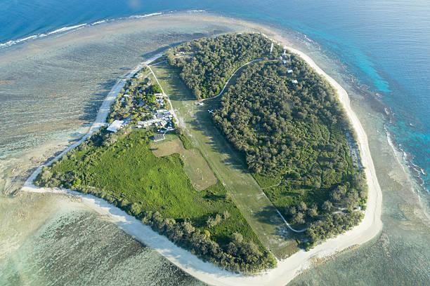 Vista aérea de isla de Lady Elliot - foto de stock