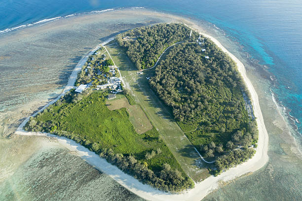 Lady Elliot Island aerial view stock photo