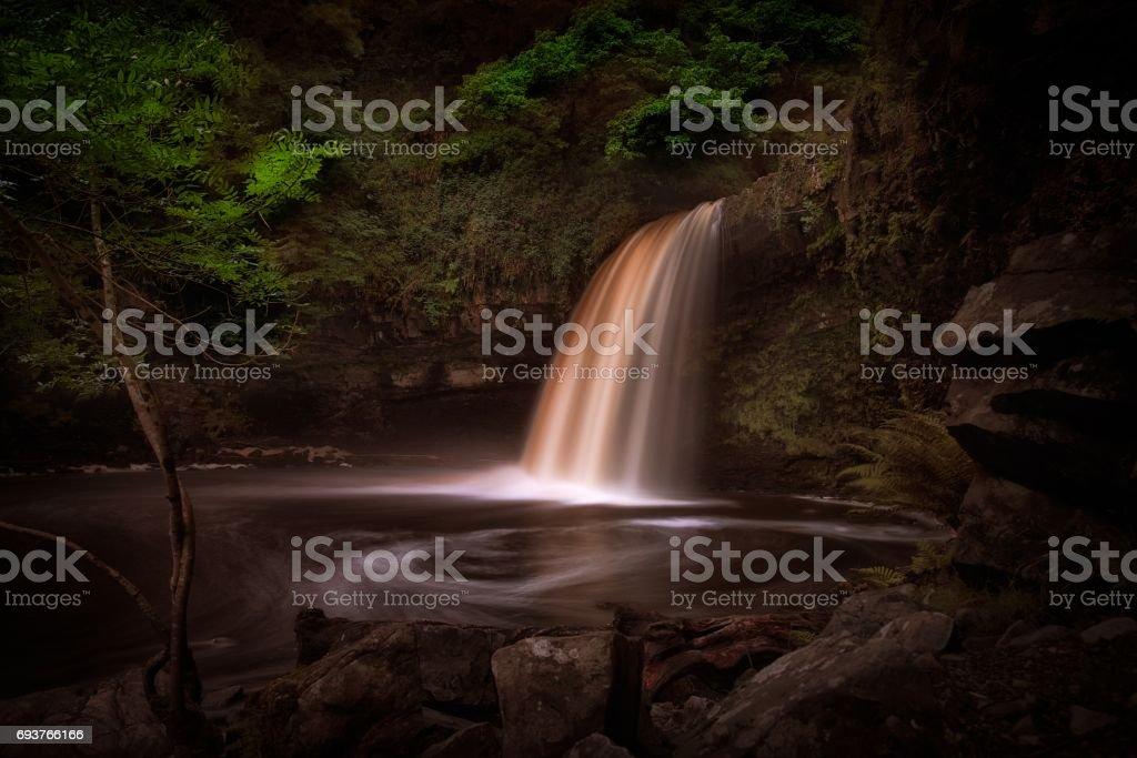 Lady Falls Sgwd Gwladus waterfall stock photo