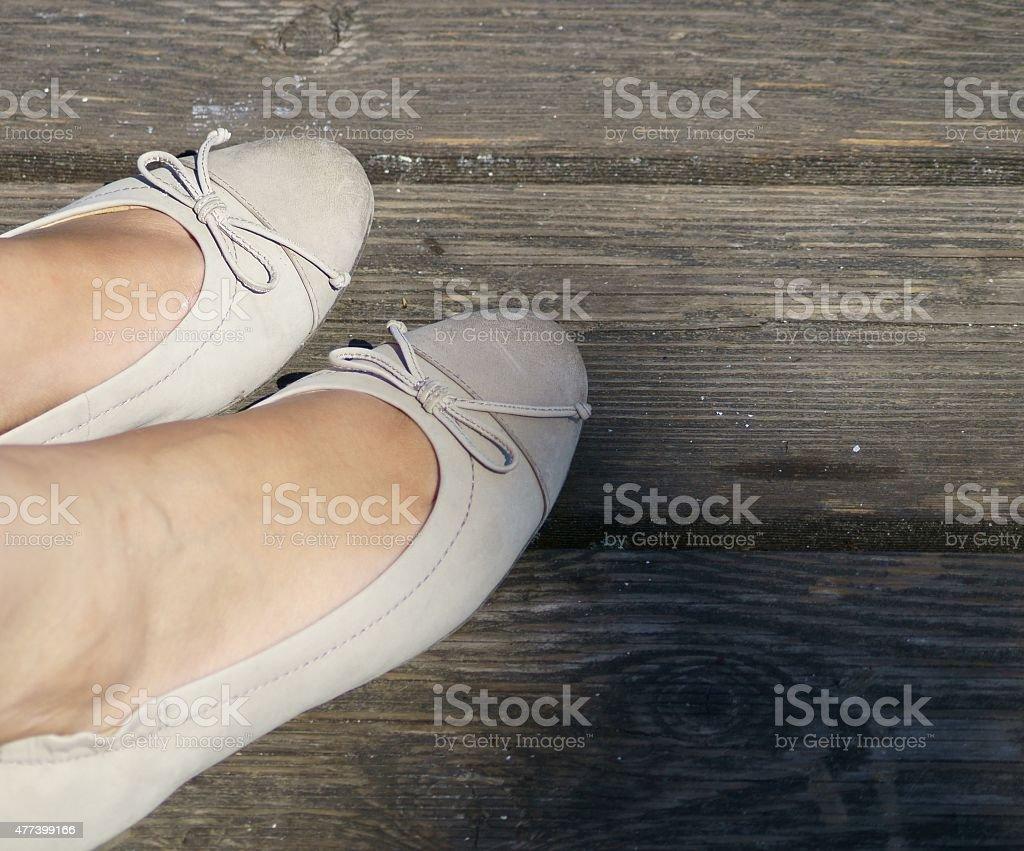 Lady feet stock photo