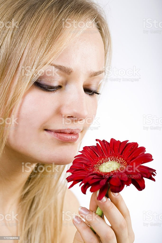 Lady Flower royalty-free stock photo