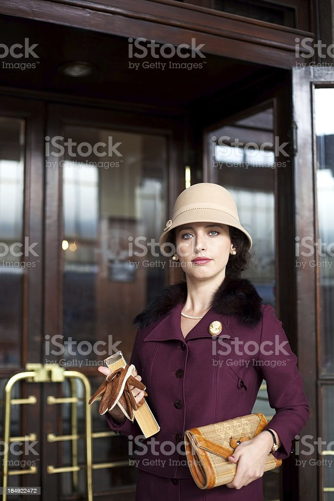 lady from a past time royalty-free stock photo