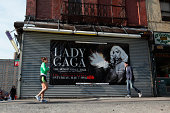 Lady Gaga advertising banner Lower East Side NYC