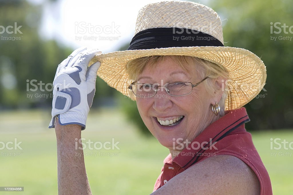 Lady Golfer royalty-free stock photo