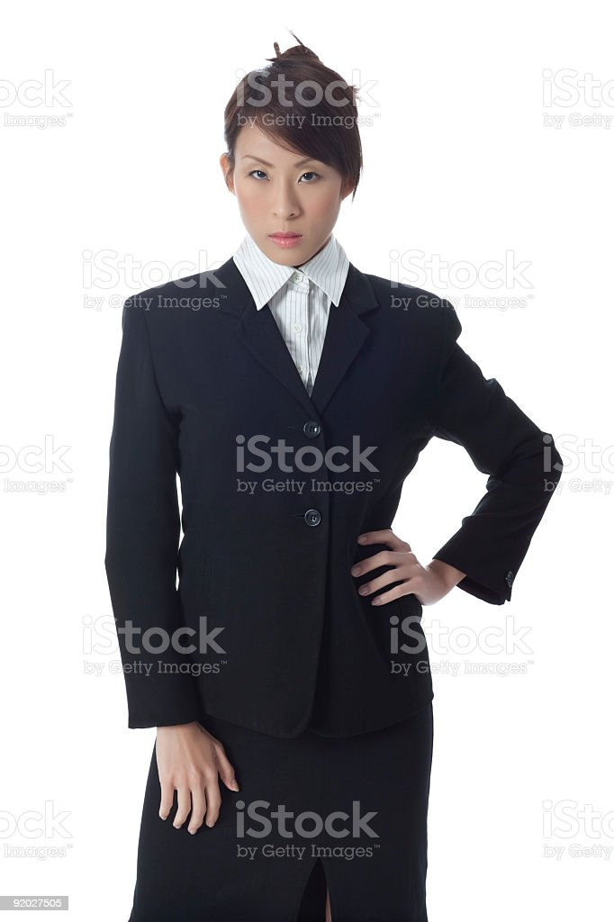 Lady in business wear royalty-free stock photo