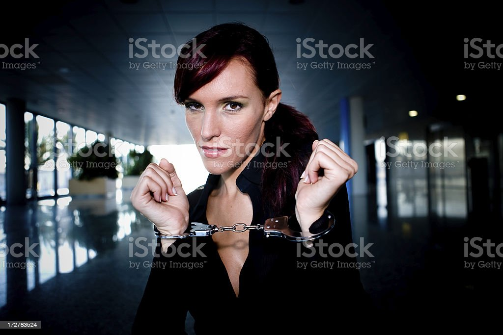 Lady in chains royalty-free stock photo