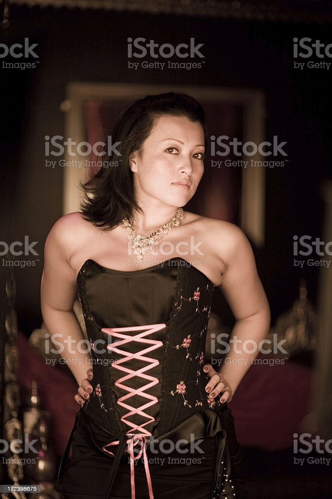Lady in Corset royalty-free stock photo