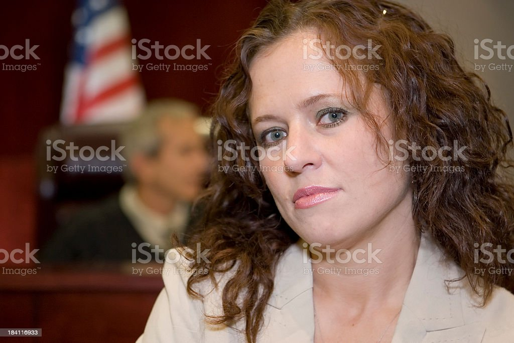 Lady in Court royalty-free stock photo