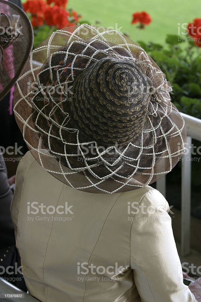 Lady in Cream stock photo