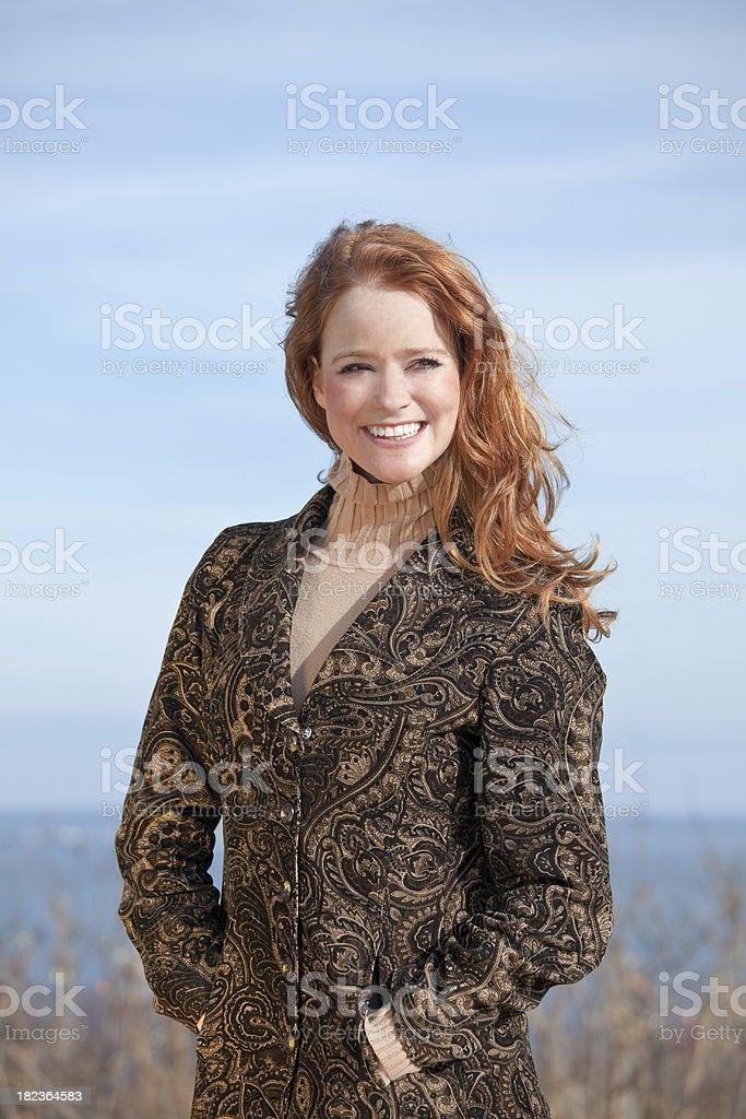 Lady in Paisley Jacket royalty-free stock photo