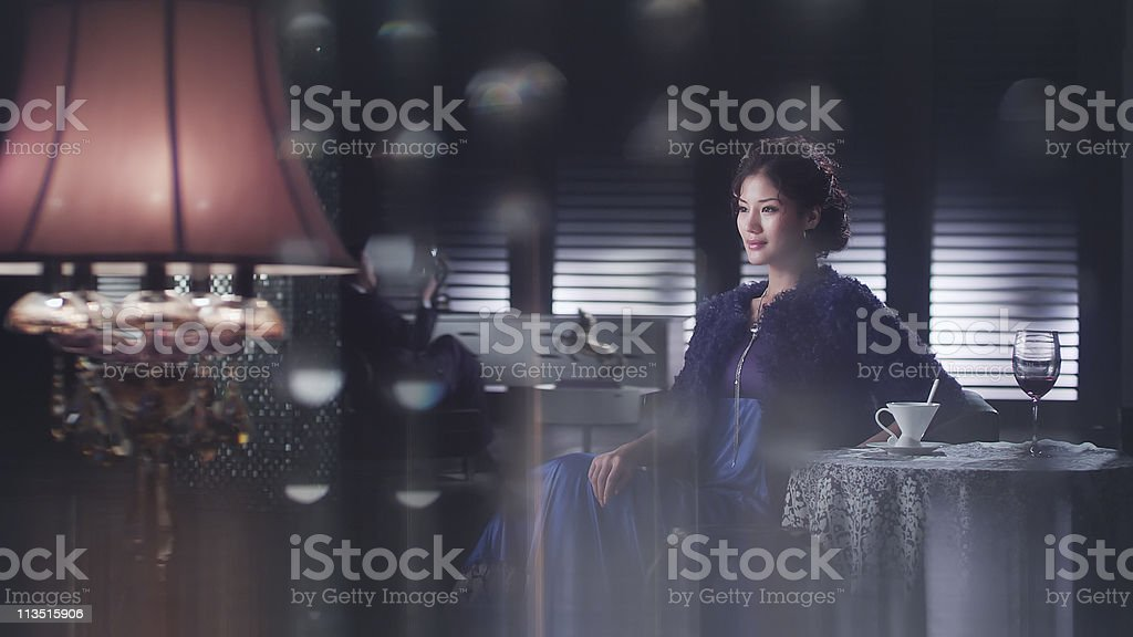 lady in party stock photo
