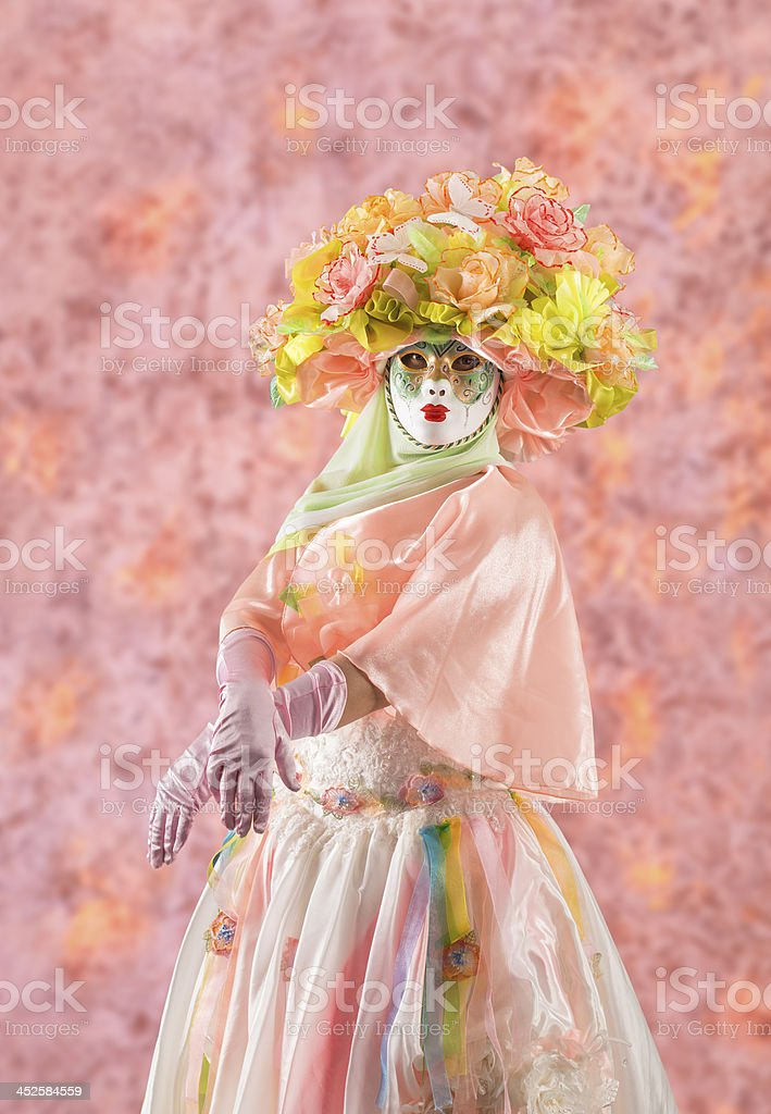 Lady in pink royalty-free stock photo