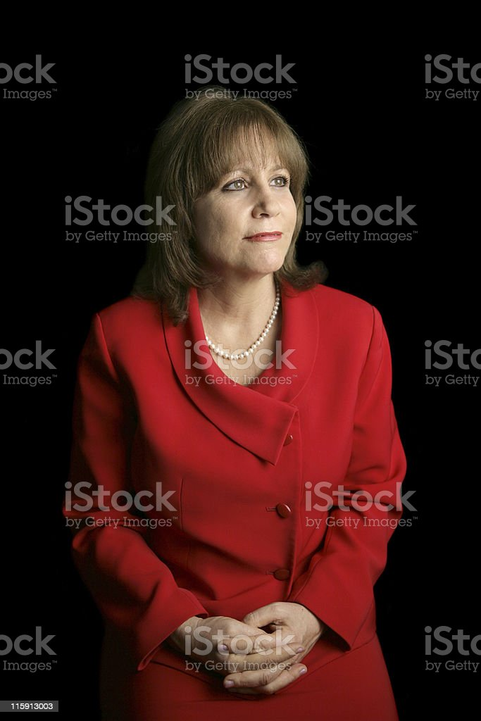 Lady In Red - Faces Future royalty-free stock photo