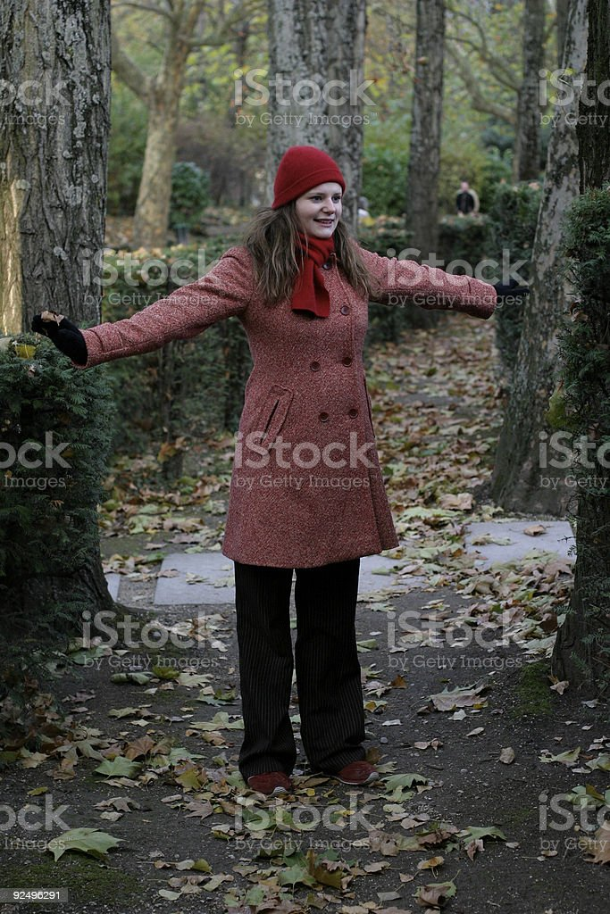 Lady in red V royalty-free stock photo